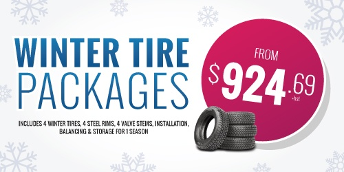 Winter Tire Packages Including Tire Storage