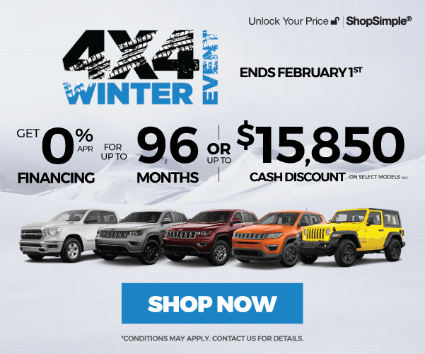 4X4 Winter Sales Event at Cooksville Dodge in Mississauga