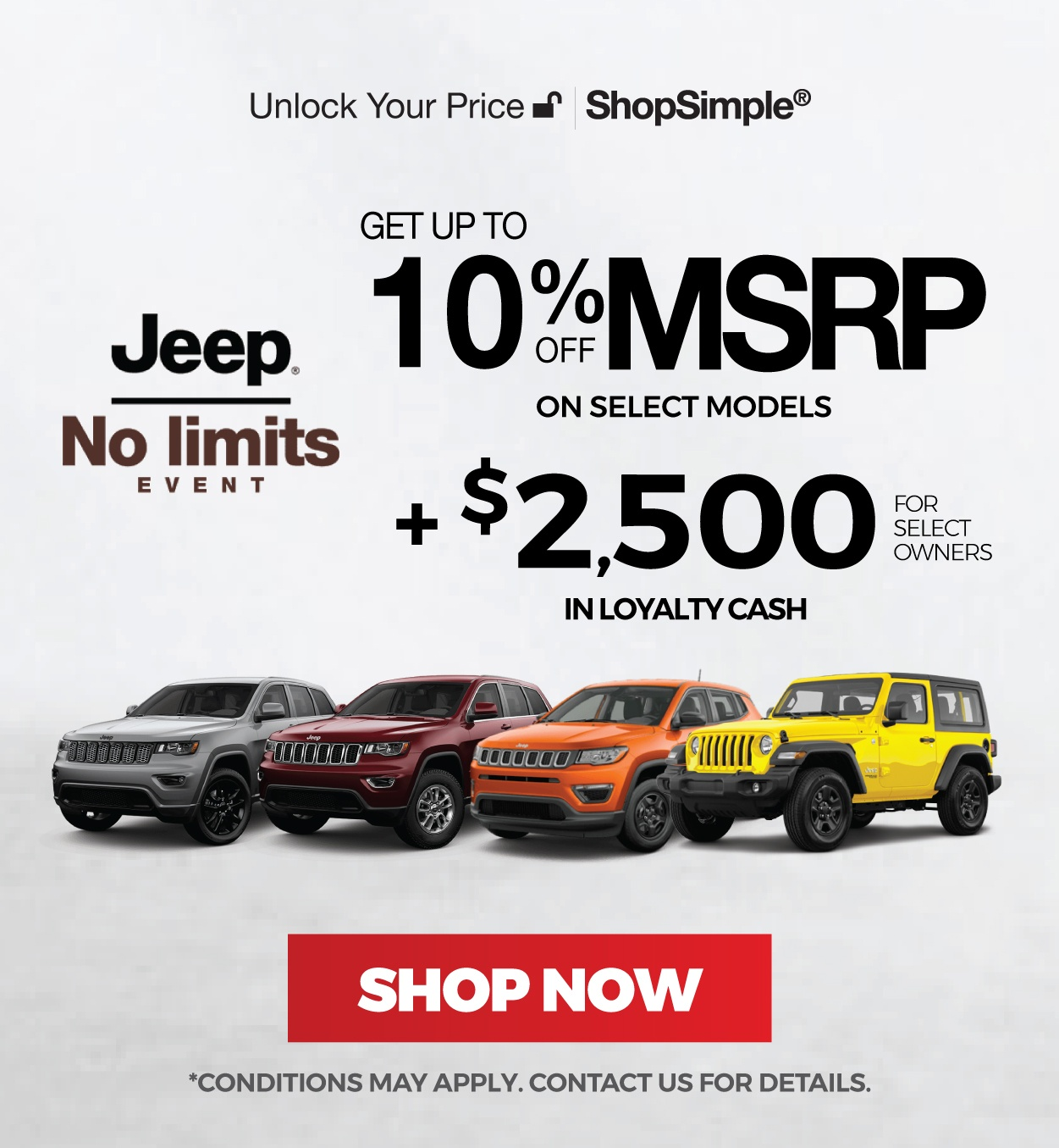 New Jeep for Sale in Mississauga