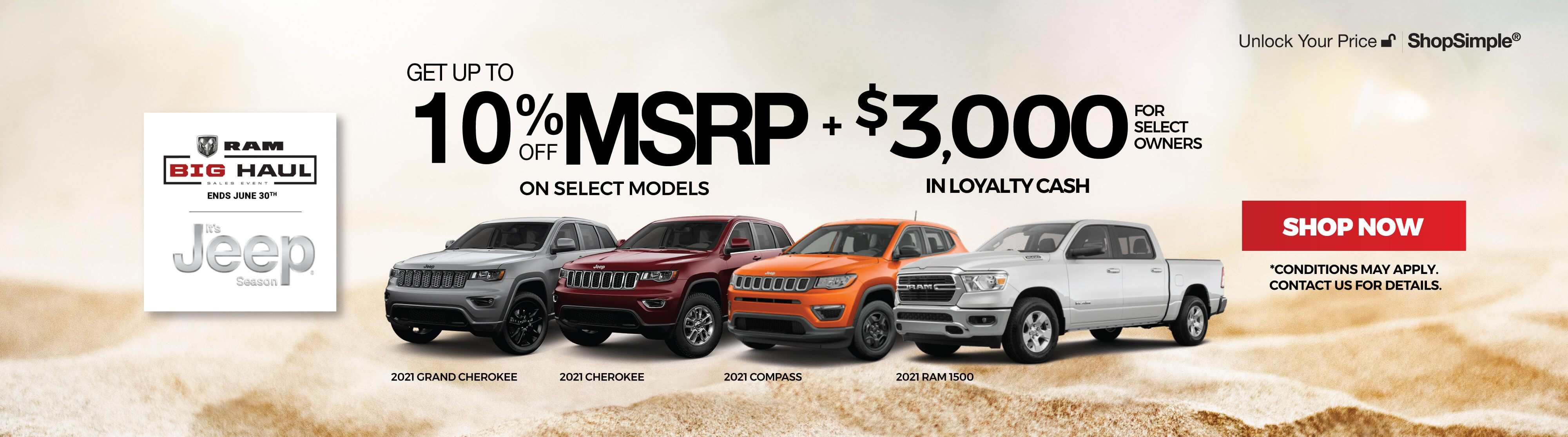 Jeep and RAM Offers in Mississauga