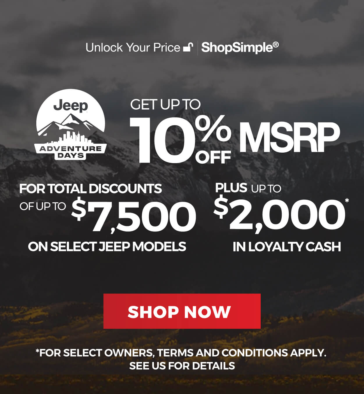 Jeep Offers in Mississauga